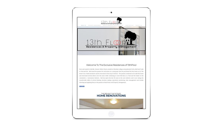Ohlssonmedia-seo-niagara-portfolio-13th-floor-residence-tablet